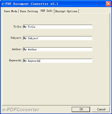 e-PDF Document Converter Screenshot