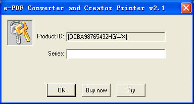 e-PDF Converter and Creator Printer user manual, Print to
