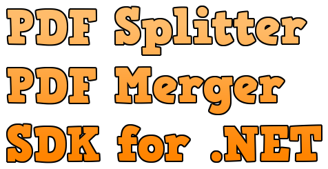Windows 7 PDF Splitter and Merger SDK for .NET 2.0 full