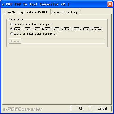 e-PDF To Text Converter Screenshot